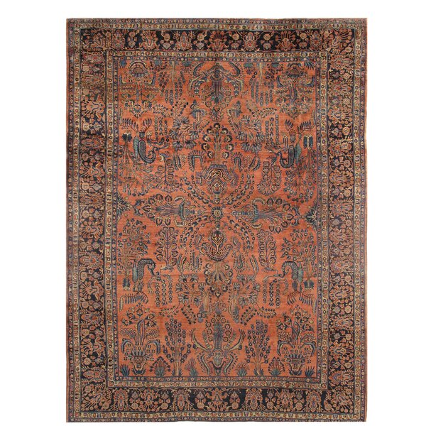 One-of-a-Kind Gwydion Hand-Knotted Brown/Black 10' x 13' Wool Area Rug