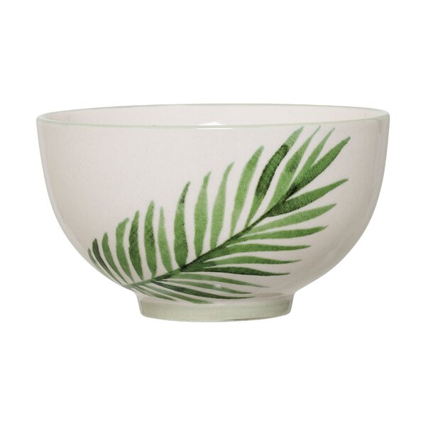 Melvina Ceramic Jade Fern Rice Bowl (Set of 4) by Mistana
