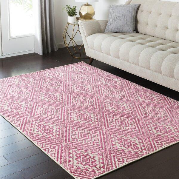 Zita Beige/Pink Area Rug by Bungalow Rose