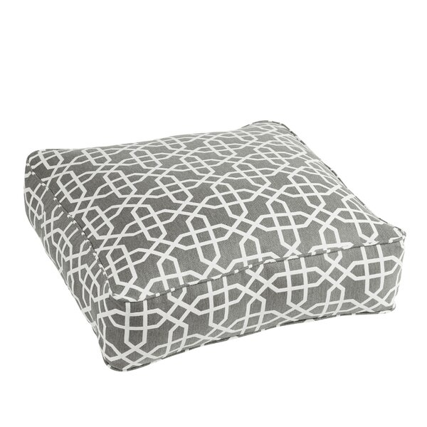 Malcom Traditional Bevel Smoke Square Indoor/Outdoor Floor Pillow by Darby Home Co