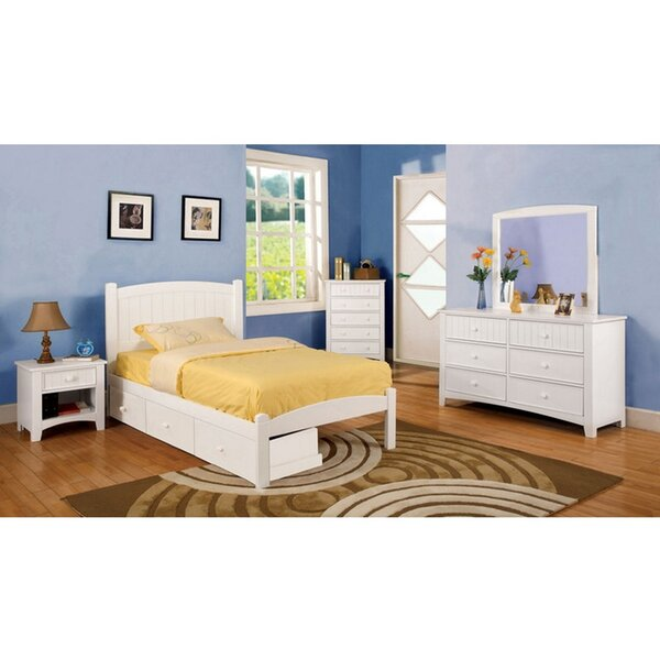 Richwood White Full Bed With Night Stand Dresser And Mirror Set by Harriet Bee