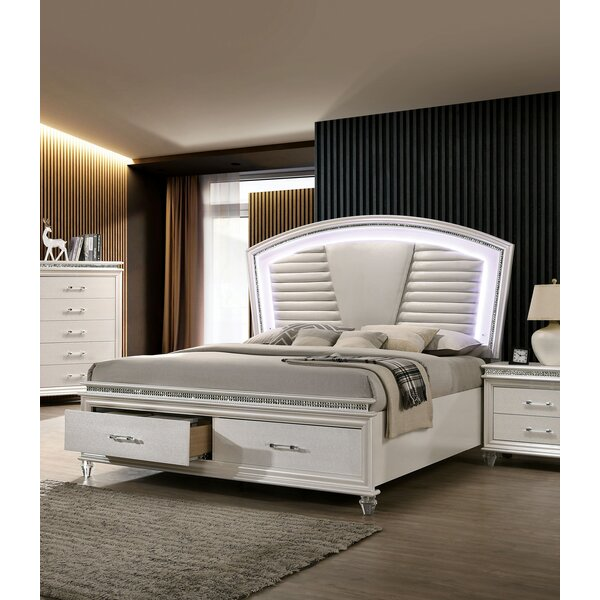 Serio Upholstered Platform Bed by Everly Quinn