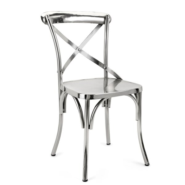 Lexington Metal Side Chair In Silver By Williston Forge