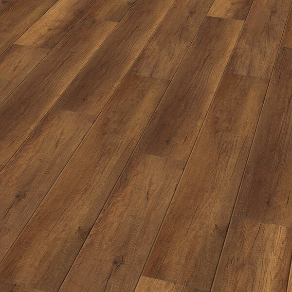 7 x 47 x 11mm Oak Laminate Flooring in Brown by ELESGO Floor USA