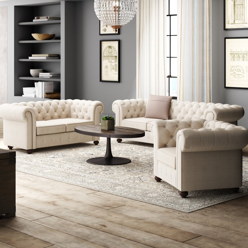 greyleigh quitaque 3 piece living room set  reviews  wayfair