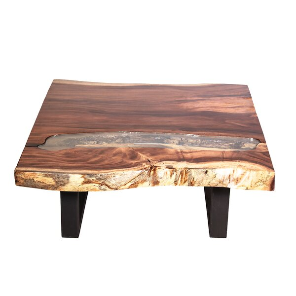 Jean Wood Top Coffee Table by Union Rustic