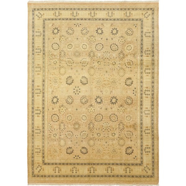 One-of-a-Kind Coulibaly Hand-Knotted Wool Beige Indoor Area Rug by Astoria Grand