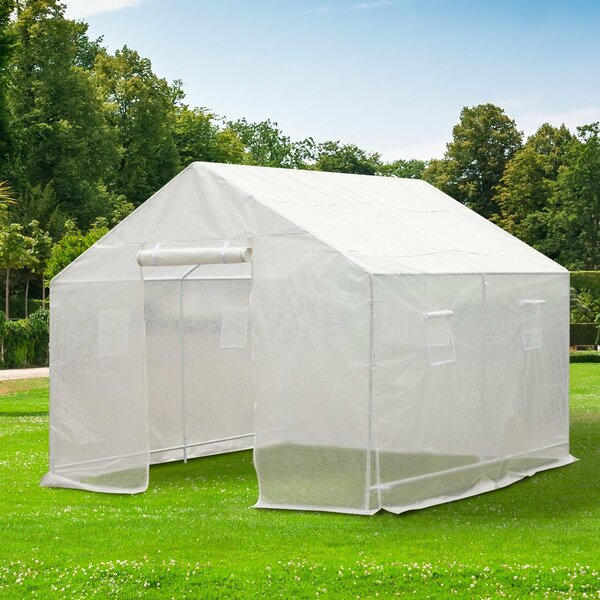 9.5 Ft. W x 10 Ft. D Greenhouse by Outsunny