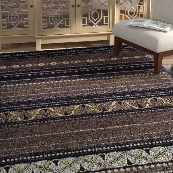 Martina Black/Beige Area Rug by Bloomsbury Market