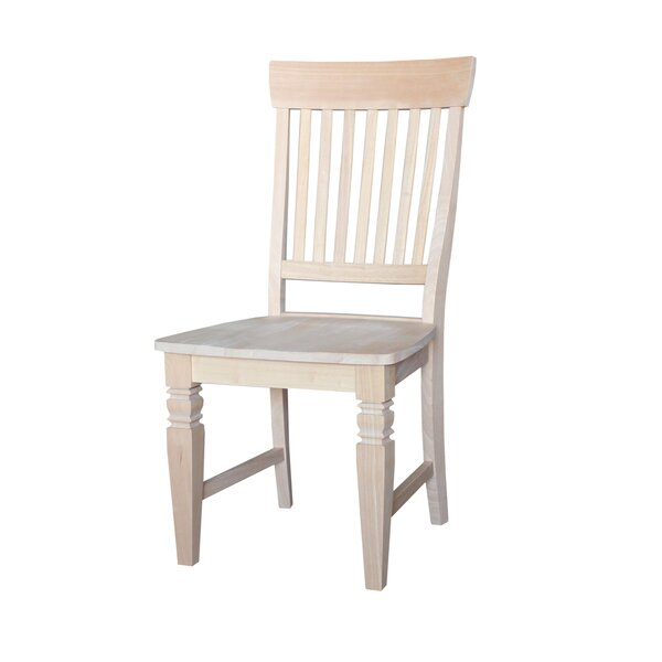 Lowell  Solid Wood Dining Chair (Set of 2) by Rosecliff Heights
