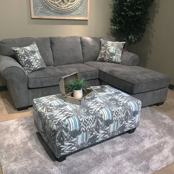Mraz Nickel Reversible Sectional with Ottoman by Red Barrel Studio