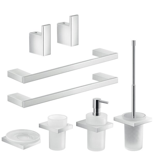 Lanzarote 8 Piece Bathroom Hardware Set by Gedy by Nameeks