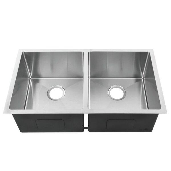 32.4 L x 19 W Double Bowl Undermount Kitchen Sink