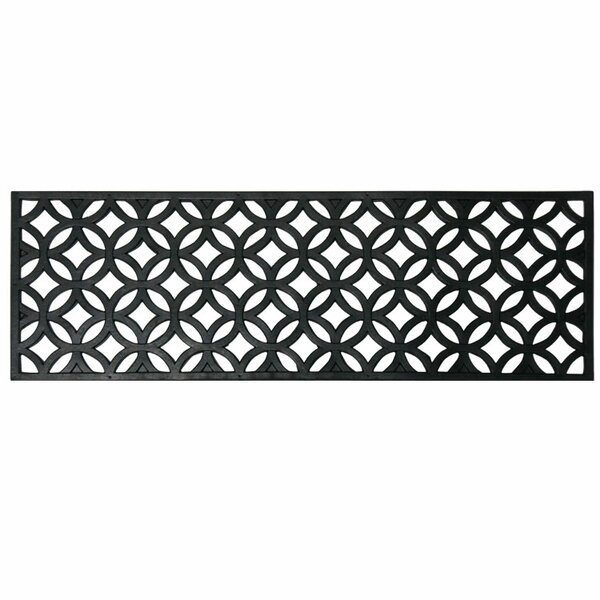 Azteca Indoor Outdoor Stair Tread Rubber Step Mat Set (Set of 6) by Rubber-Cal, Inc.