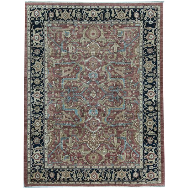 Sultanabad Oriental Hand-Knotted Wool Yellow/Blue Area Rug