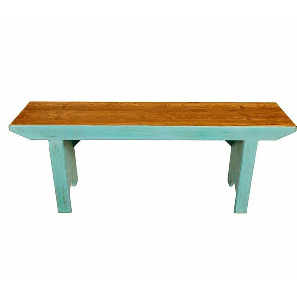 Huckstep Wooden Picnic Bench by Highland Dunes