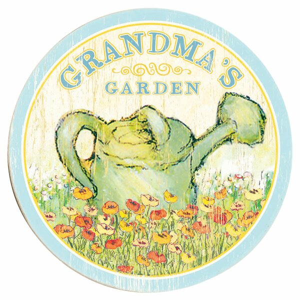 Personalized Garden Drawing Print on Wood by Artehouse LLC