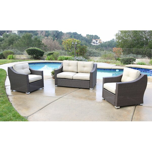 Leib 3 Piece Rattan Sofa Seating Group with Cushions by Latitude Run