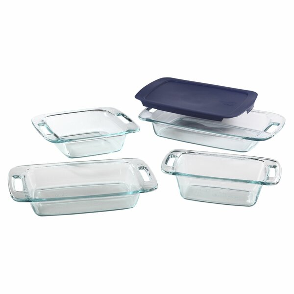 Easy Grab 5 Piece Bakeware Set by Pyrex