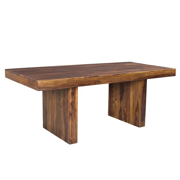 Lusby Sheesham Wood Solid Wood Dining Table by Union Rustic