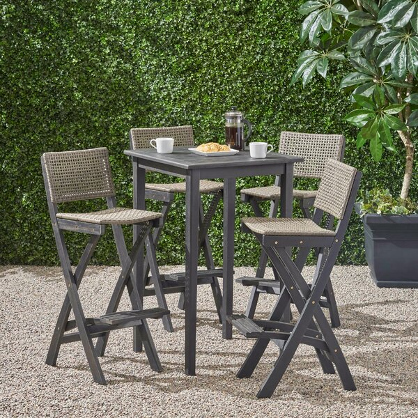 Kapisa 5 Piece Bar Dining Set by Winston Porter