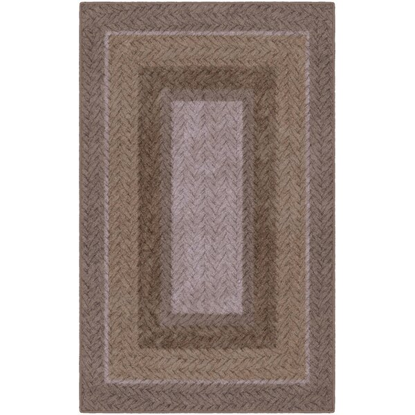 Areli Braided Printed Brown Area Rug by Winston Porter