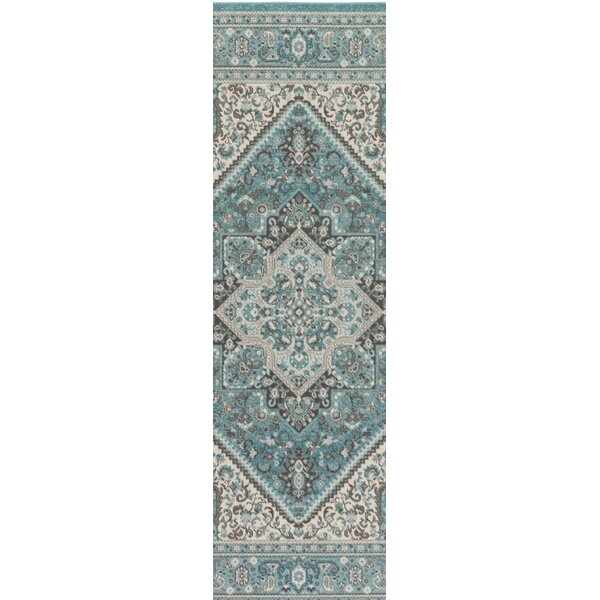 Pickerel Turquoise Area Rug by Astoria Grand