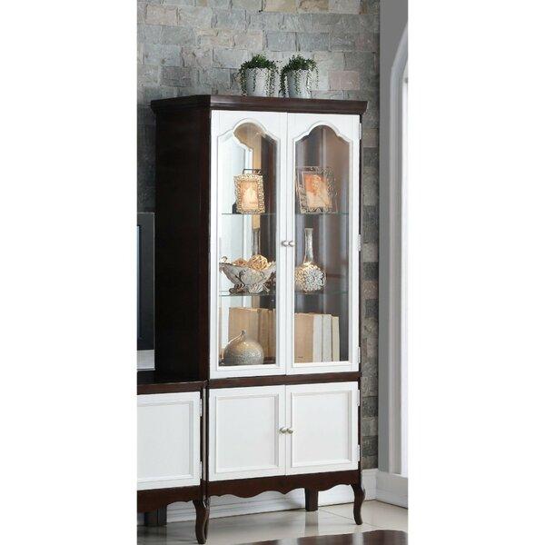 Conley Double Glass Door Wooden Curio Cabinet by Alcott Hill