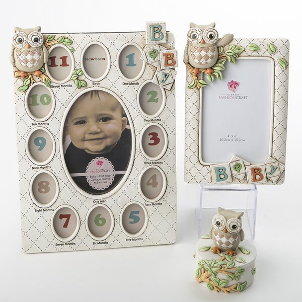 Baxter 3 Piece Vintage Owl Picture Frame Set by Harriet Bee