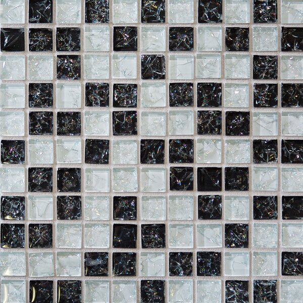 Staccato Mosaic Gloss Tile in Black by Grayson Martin