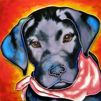 Black Dog Tile Wall Decor by Continental Art Center