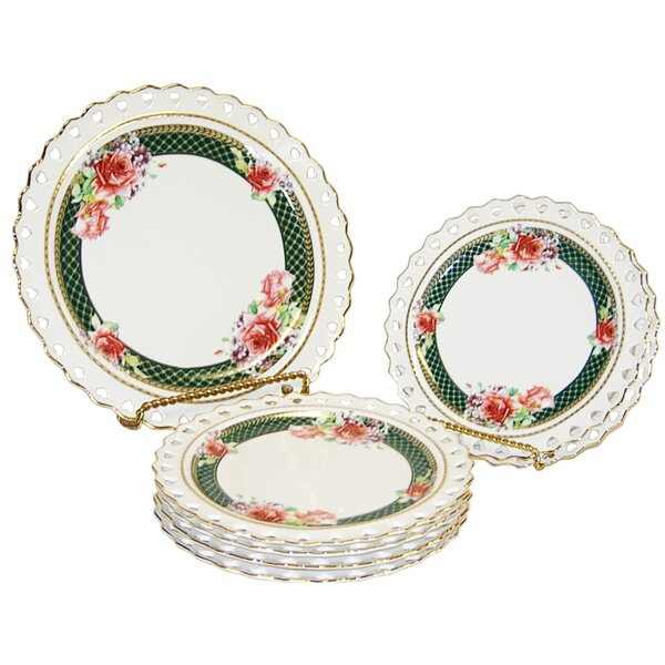 Raseborg Fine Porcelain Hand Crafted Heart Rim 7 Piece Dinnerware Set, Service for 1 by Astoria Grand