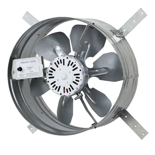 1220 CFM Gable Mount Attic Fan with Adjustable Thermostat by iLIVING