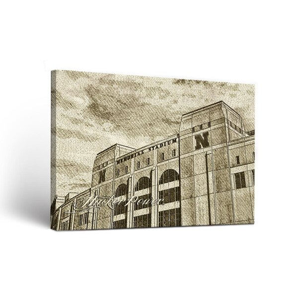 NCAA Wake Forest Demon Deacons Sketch Design Framed Graphic Art on Wrapped Canvas by Victory Tailgate