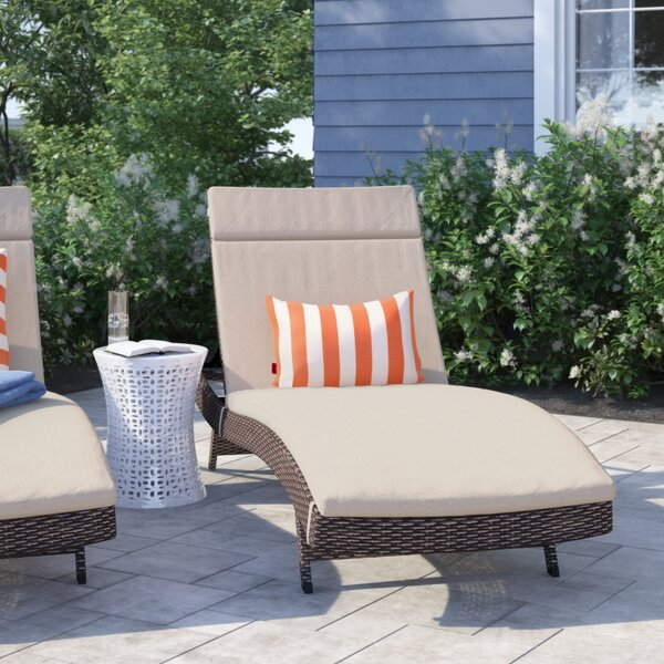 Bellview Reclining Chaise Lounge with Cushion by Sol 72 Outdoor Sol 72 Outdoor