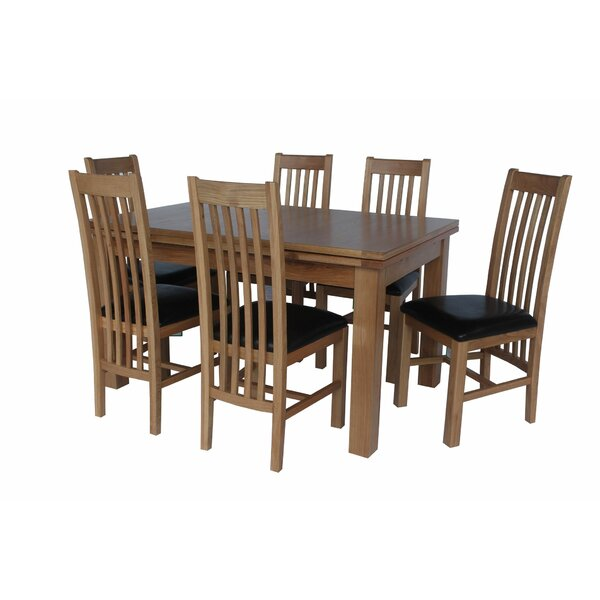 Pecora 7 Piece Extendable Solid Wood Dining Set by Loon Peak