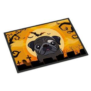 Halloween Pug Doormat