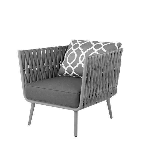 Polak Patio Chair with Cushions by Bungalow Rose