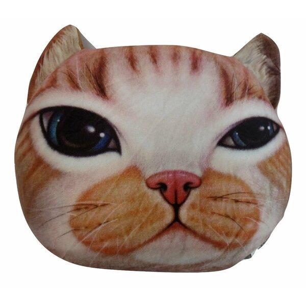 Orange Tabby Cute Kitty Cat Throw Pillow by Tache Home Fashion