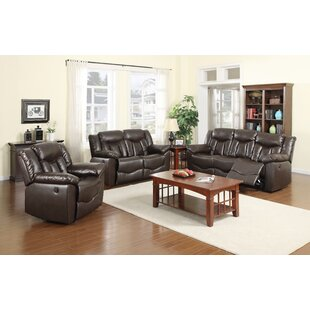 James Reclining 3 Piece Living Room Set Nathaniel Home
