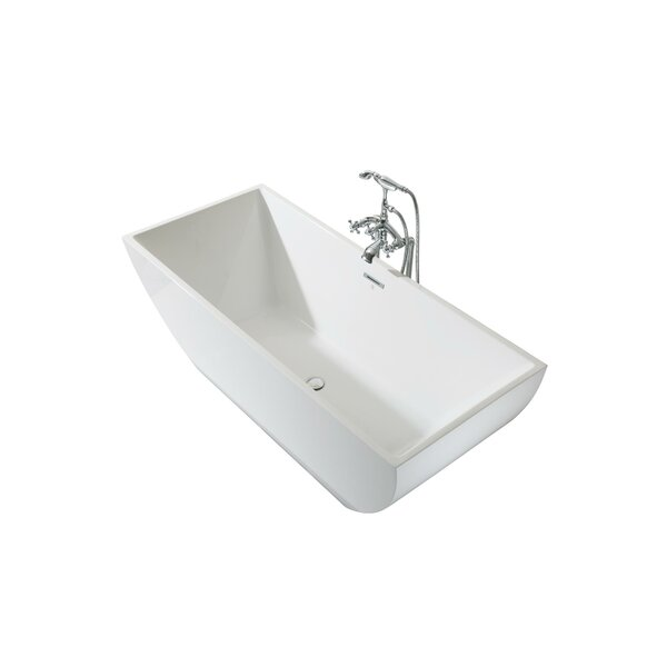Chelsea Platinum 67 x 30 Freestanding Soaking Bathtub by Ariel Bath