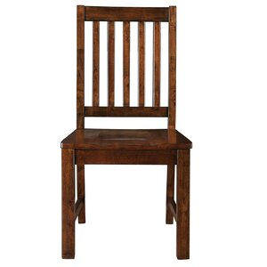 Nashoba Solid Wood Dining Chair Loon Peak