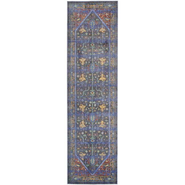 Portillo Navy/Red Indoor Area Rug by World Menagerie