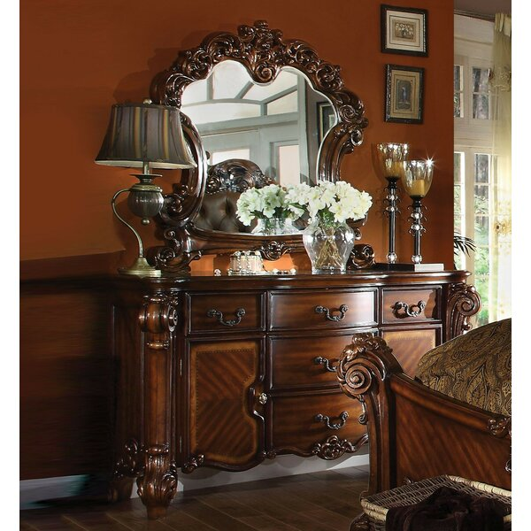 Ryles 5 Drawer Dresser with Mirror by Astoria Grand