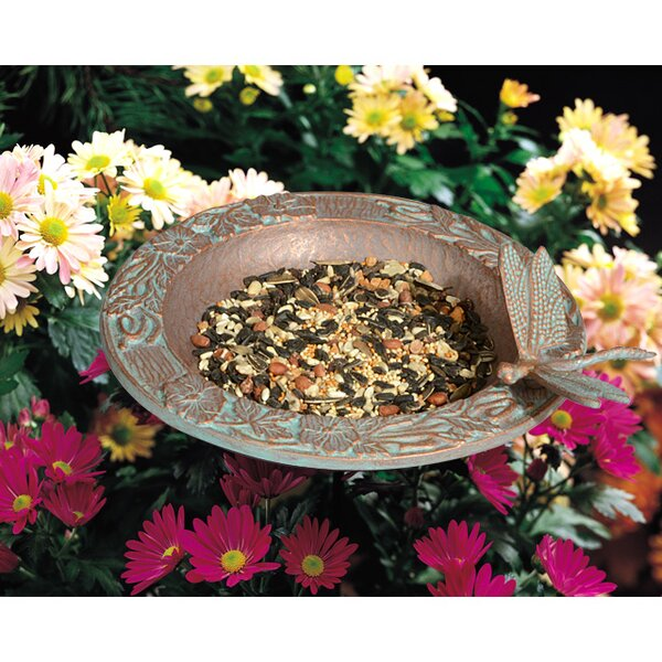 Butterfly Garden Tray Bird Feeder by Whitehall Products