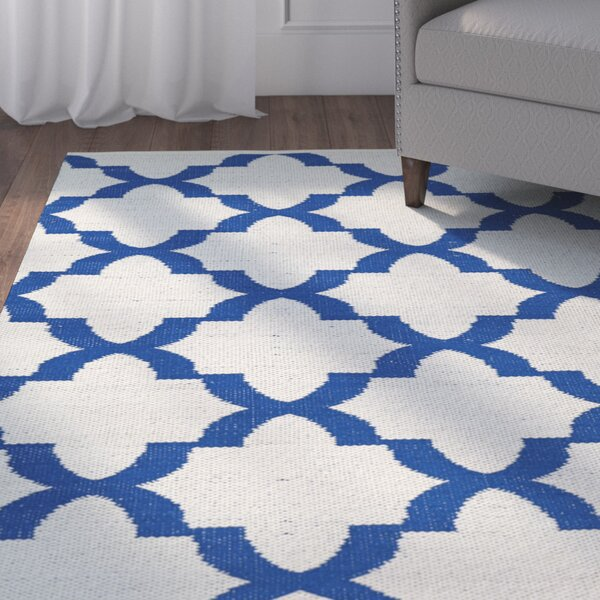 Tyesha Navy/White Indoor/Outdoor Area Rug by Winston Porter