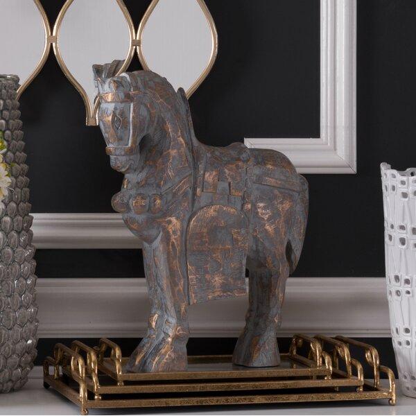 Stiles Large Solar Horse Figurine by Bloomsbury Market