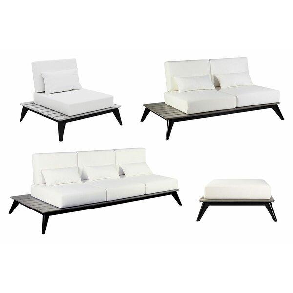Kakaban 4 Piece Teak Sofa Seating Group with Cushions by Seasonal Living Seasonal Living