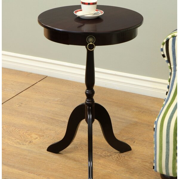 Hugh Pedestal End Table by Fleur De Lis Living