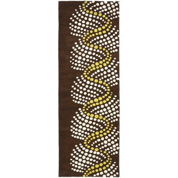Armstrong Brown/Beige Area Rug by Winston Porter